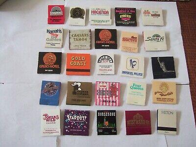 Lot of 25 Las Vegas Casino Matchbook Match Books All Full Unstruck