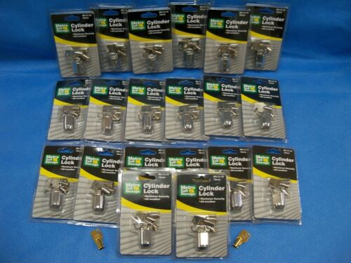 Metro Self Storage MS-CL19 Cylinder Locks 19mm 3 Tubular Keys NEW  (LOT OF 20 )