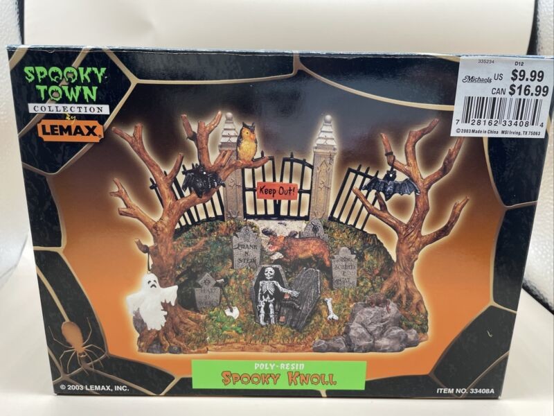 Lemax Halloween Spooky Town Spooky Knoll Retired #33408A w Original Box