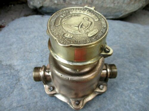 Antique Dated 1936 Brass Very Rare French Naiade Museum Watermeter Water Meter