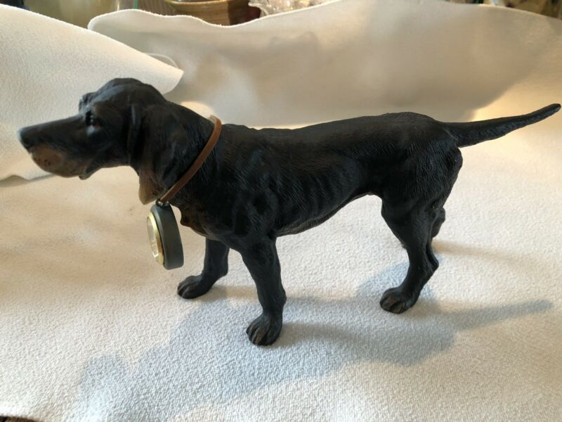 Black & Tan Coonhound Figurine Clock