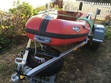 Achilles inflatable, (NOT PVC) and registered trailer. Rosny Clarence Area Preview