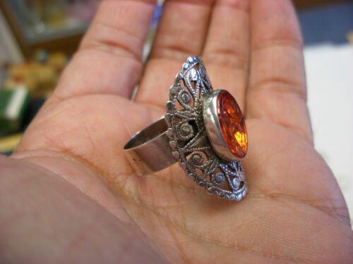 Vintage Sterling Silver Ring Marked 925  - Zodiac Goat Symbol Size 9 #1029