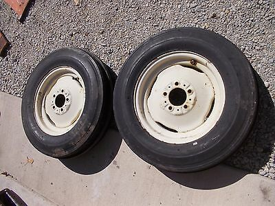 Allis Chalmers D14 Tractor Ac Rims 6.00 X 16 6ply Super High Rib Front Tires