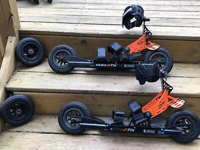 Skike VO7 Fix-USED-With extra front wheels with one way bearing, and poles