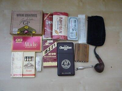 Alte Zigarren, Zigarillos, Tabak und Schachteln (Z9g)  vermutlich 30 Jahre alt