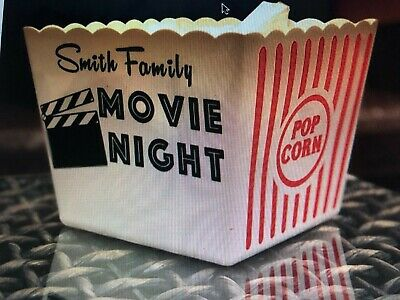 Personalized Family Movie Night Popcorn Bucket