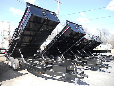 Brand New 2022 83 X 16 Dump Trailer 14000 G.v.w.r. Barn Door Spreader Gate