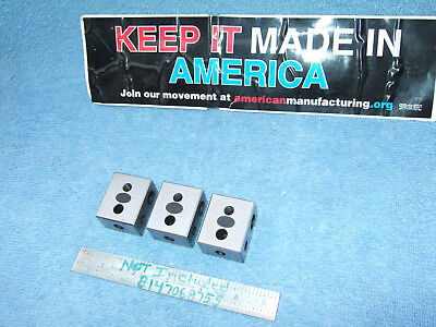 Moore Tool Co. Blocks 3 Blocks Parallels Toolmaker Machinist Inspection Qa