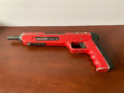 Ramsetred Head Itw Model 721 Powder Actuated Tool Good Working Condition
