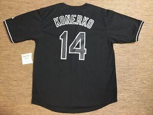 051f3aa7a05 Paul Konerko Chicago White Sox Sewn Majestic MLB Baseball Jersey Men's Sz 52