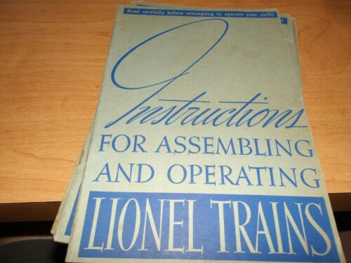 Lionel Trains Instructions for Assembling, 1938, Clean and complete, (D10)