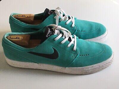 Mens Nike Zoom Stefan Janoski Teal Suede Better World Sneakers 333824-405 US