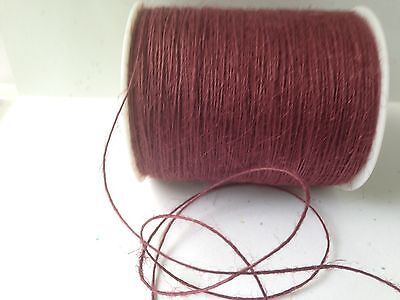 (String Burlap Ribbon - May Arts - SM25 - Burgundy - 5 Yards)