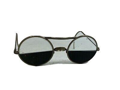 Vintage Bifocal Welding Glasses Steampunk Lennon Style Vgc Bifocal Style