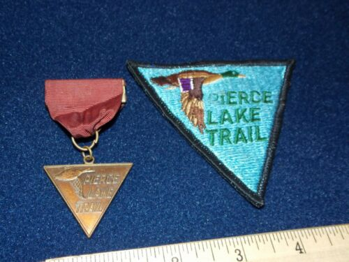 VINTAGE - PIERCE LAKE TRAIL MEDAL & PATCH