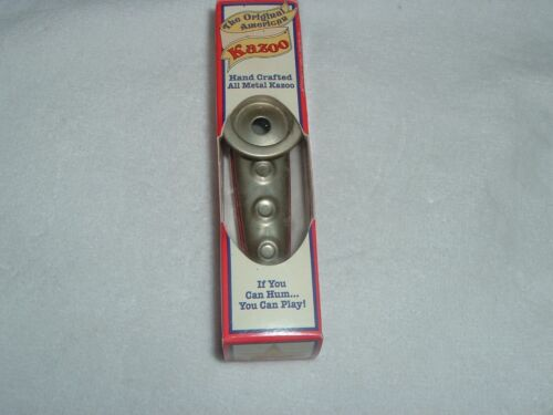 Original American Kazoo Silver & Red Eden NY NEW in Box
