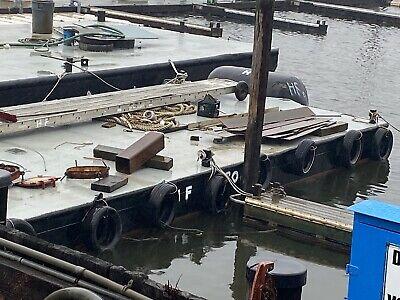 Barge Dock Steel Barge Deck Barge Dock Building Barge 40x17x3