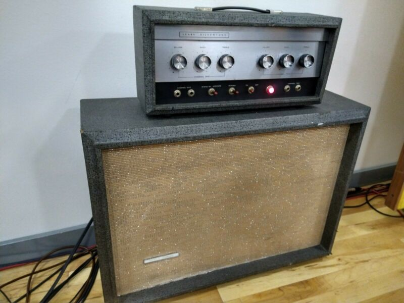 Vintage 1966 Silvertone 1483 by Danelectro! GREAT AMP! ALL ORIGINAL! BOSS TONE!!