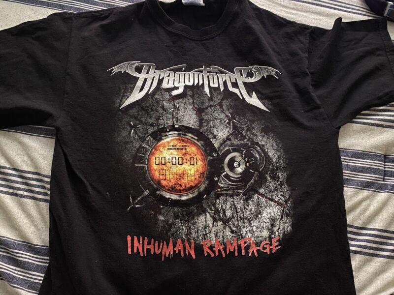 Dragonforce 2006 Inhuman Rampage Heavy Metal Band World Tour Medium Super Rare