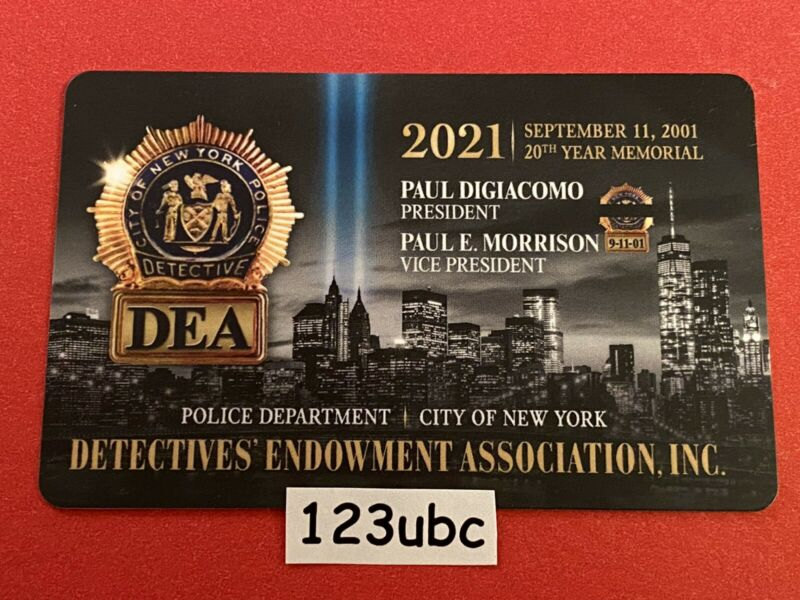 "2021 NYPD DEA DETECTIVE CARD ""100% AUTHENTIC"" NEW"