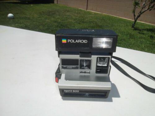 Vintage Polaroid Spirit 600 Black/Silver Instant Camera - Estate Find - Untested