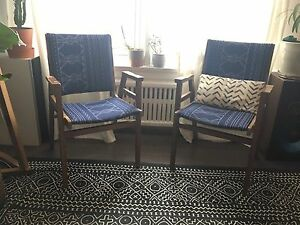 Vintage Wooden Arm chairs