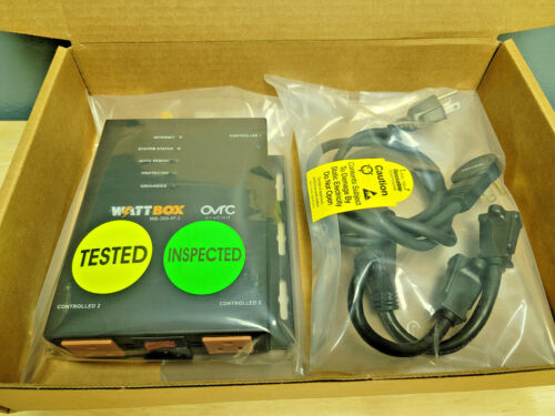 Wattbox WB-300-IP-3 3-Outlet Ip Controlled Power Conditioner Auto Reboot Tested