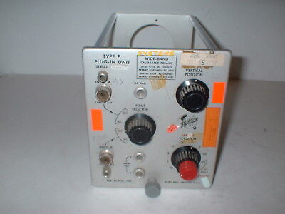 Tektronix Type B Oscilloscope Plug-in Unit Wide Band Preamp  Box7s