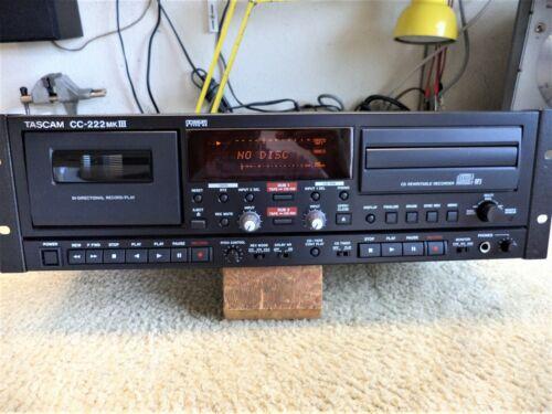 TASCAM 222 MK3  CD BURNER & CASSETTE RECORDER