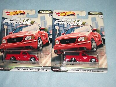 HOT WHEELS FAST & FURIOUS MOTOR CITY MUSCLE SERIES #1 FORD F 150 SVT LIGHTNING