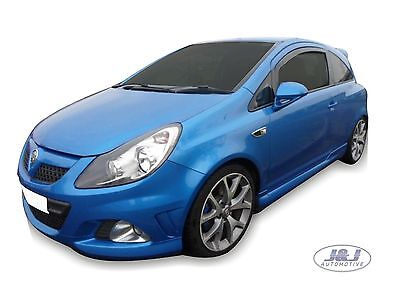 DOP25364 VAUXHALL CORSA D 3 Door 2006-2014 wind deflectors 2pc set TINTED HEKO