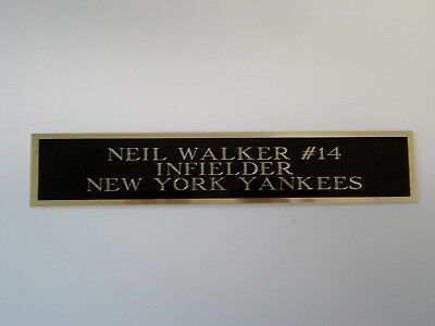 Neil Walker Yankees Autograph Nameplate For A Baseball Bat Or Jersey Case 1.5X6