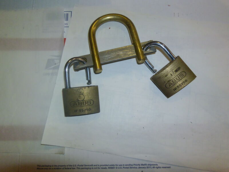 Multiple Padlock Locking Device - Shared Access For Utility Companies- Dual Hasp