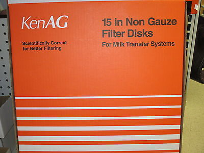 Milk Filter Strainer - 15 Inch Disk - Dumping Station- Box Of 100 - Ken Ag-new