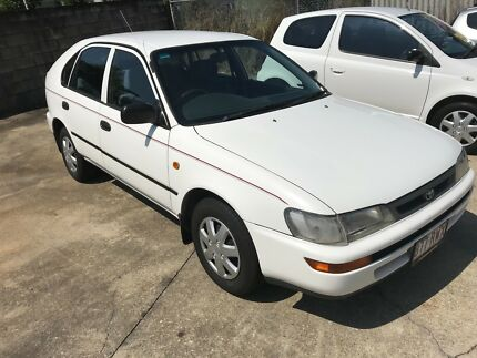 1998 Toyota Corolla SCI White Manual Hatchback  Cars Vans  Utes