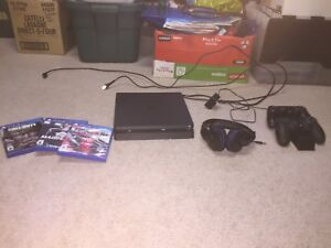 1TB, Ps4 with Madden 18, NBA 2K18, and Call of Duty WW2