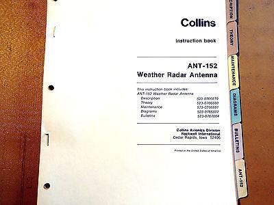 Collins ANT 152 Radar Antenna Service manual