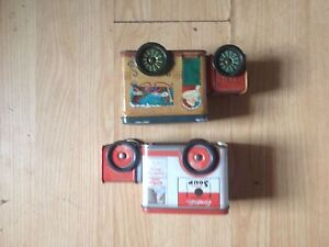 Vintage Campbell's soup truck tin and xmass truck tin