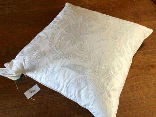 White Ralph Lauren Palm Harbor Embroidered Decorative Pillow 20 x 20 Cotton New