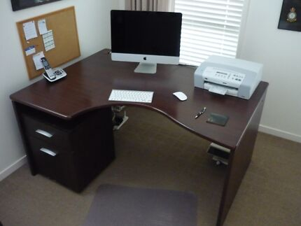 Executive Office Desk & Mobile Filing Cabinet Robina Gold Coast South Preview