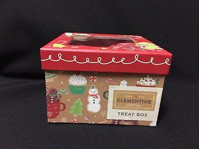 ( NWT Clementine Festive Christmas Treat See Thru Top Box )