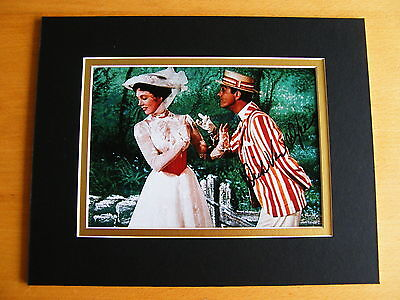 DICK VAN DYKE GENUINE HAND SIGNED AUTOGRAPH 10X8 PHOTO MOUNT MARY POPPINS & COA