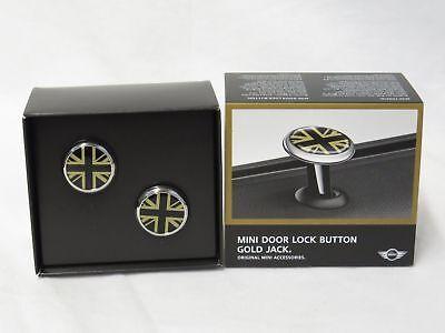 OEM Mini Cooper Door Lock Caps Pins Gold Jack Gold Black 82292406337