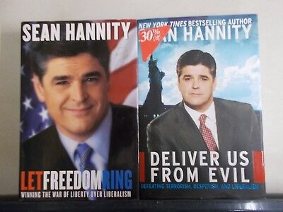 2 Sean Hannity Deliver Us From Evil And Let Freedom Ring Hc W Dj