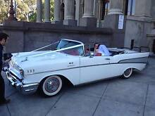 1957 CHEVY CONVERTIBLE WEDDING CAR HIRE MELBOURNE. GRAND TOURER Airport West Moonee Valley Preview