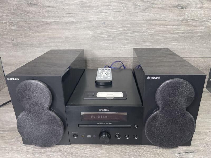 Yamaha CRX-330 Shelf Stereo CD & iPOD Receiver + Speakers & Remote 📖 Info