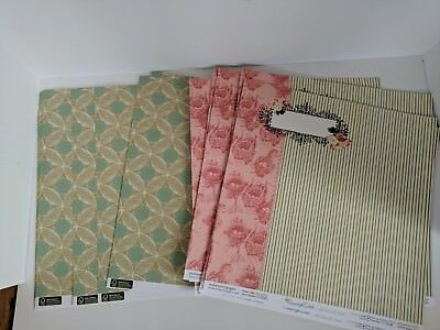Lot Of 20 Country Estate 12x12 Scrapbook paper Card Stock Double Sided Paper