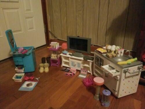 American Girl Campus Snack Cart, Entertainment Center, Popcorn Machine, Salon  - $100.00
