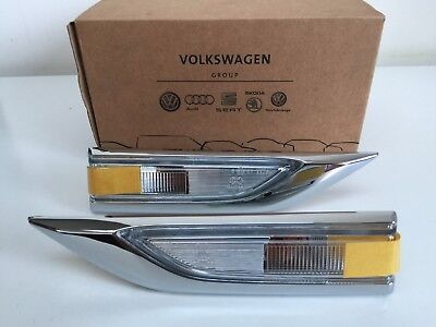 Genuine VW T6 Sportline chrome side repeaters / indicators - great upgrade